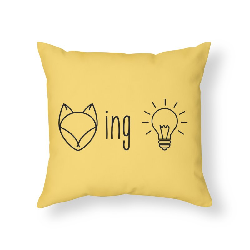 F(ox)ing Brilliant! Home Throw Pillow by Ms. Christi Design