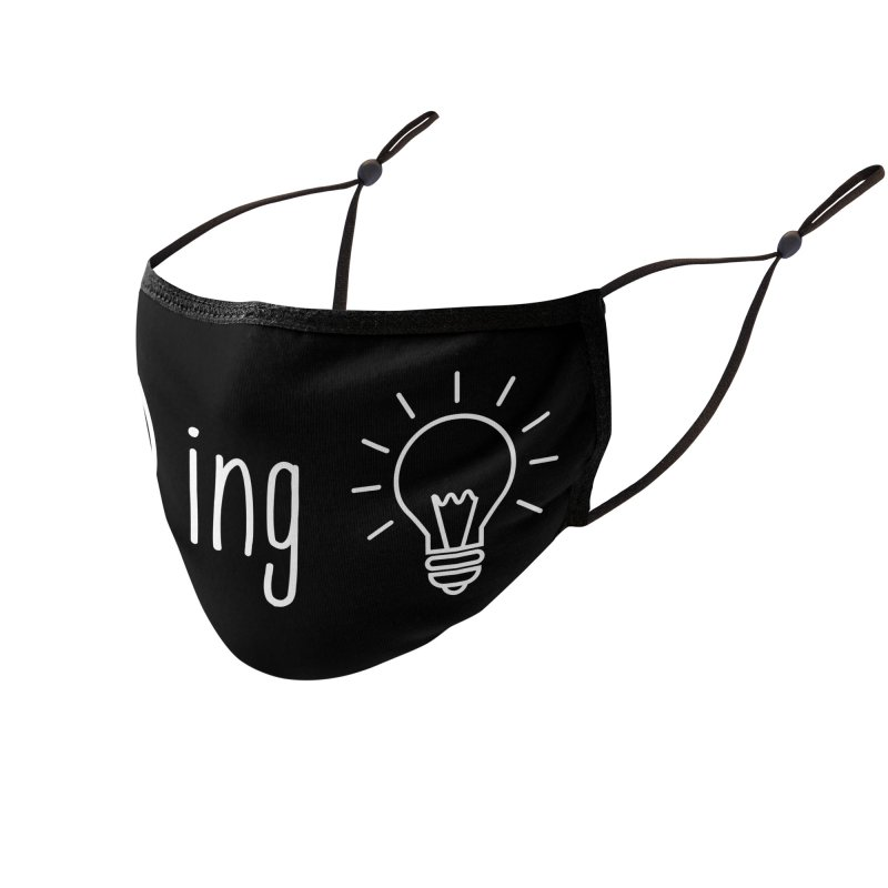 F(ox)ing Brilliant! for Dark Colors Accessories Face Mask by Ms. Christi Design