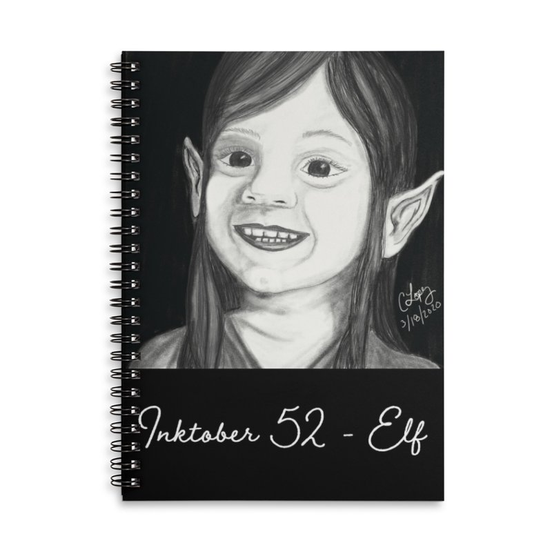 Inktober52 - Elf Accessories Notebook by Ms. Christi Design