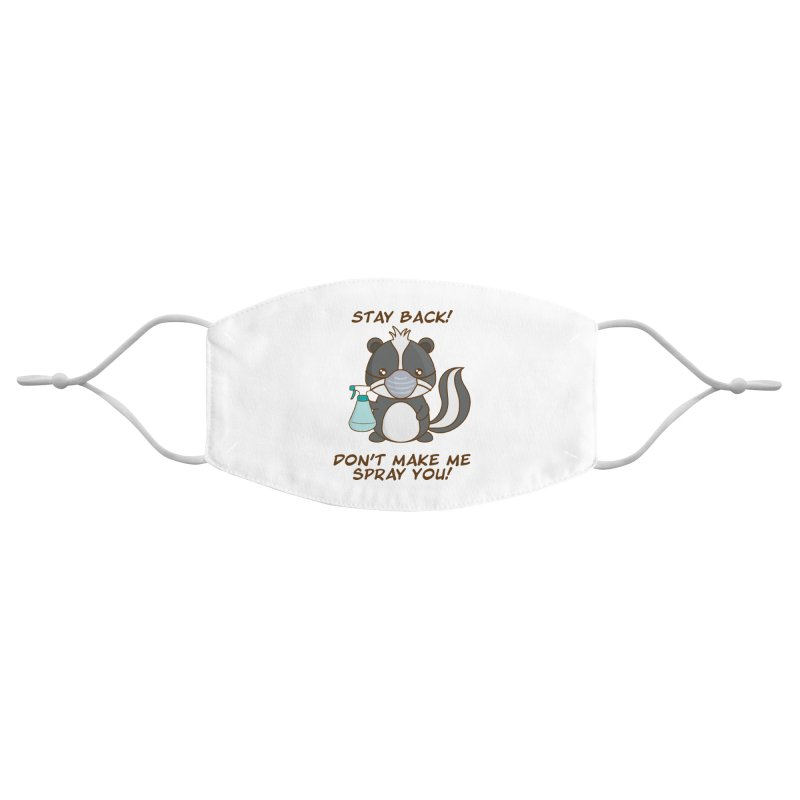 Cute Pandemic Skunk Accessories Face Mask by Ms. Christi Design