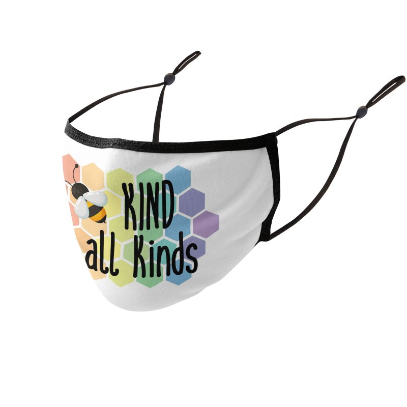Bee Kind Accessories Face Mask by Ms. Christi Design