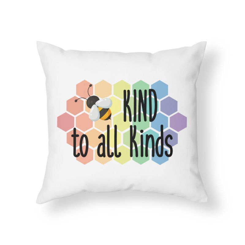 Bee Kind Home Throw Pillow by Ms. Christi Design