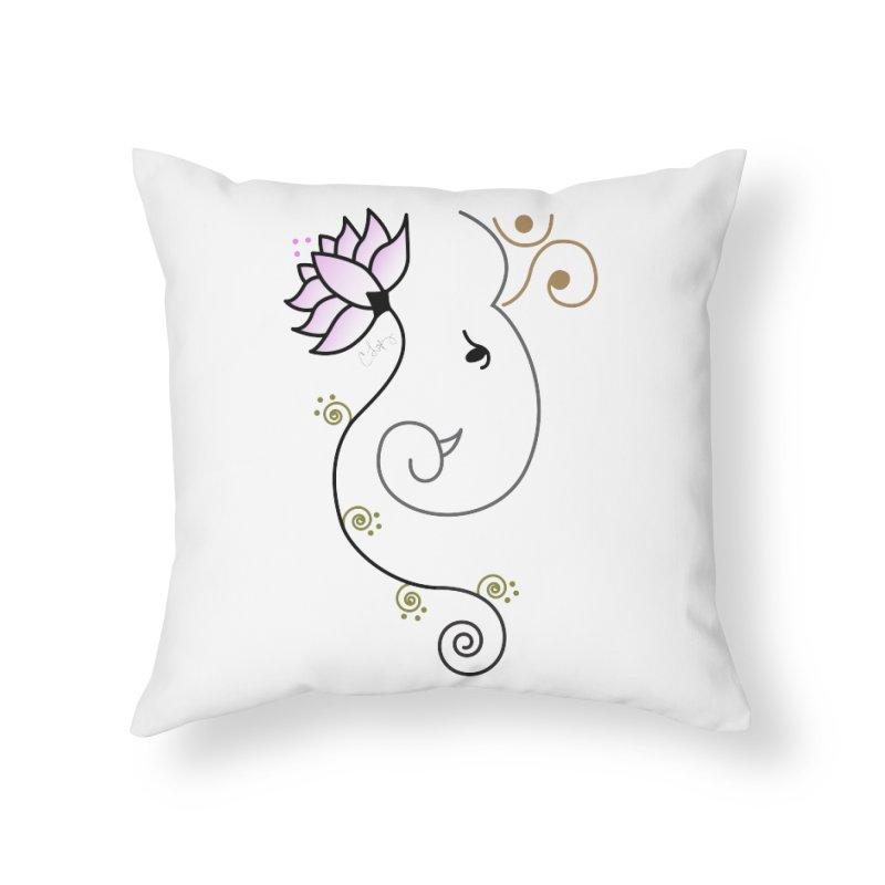 Ohm Ganesha Home Throw Pillow by Ms. Christi Design