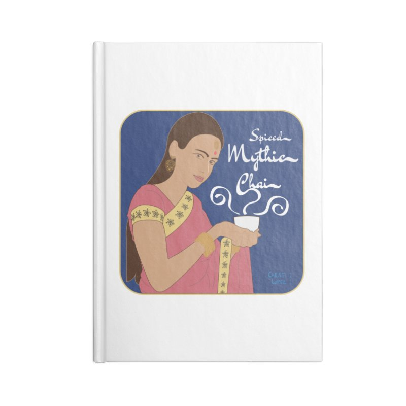 Art Nouveau Chai Advertisement Accessories Notebook by Ms. Christi Design
