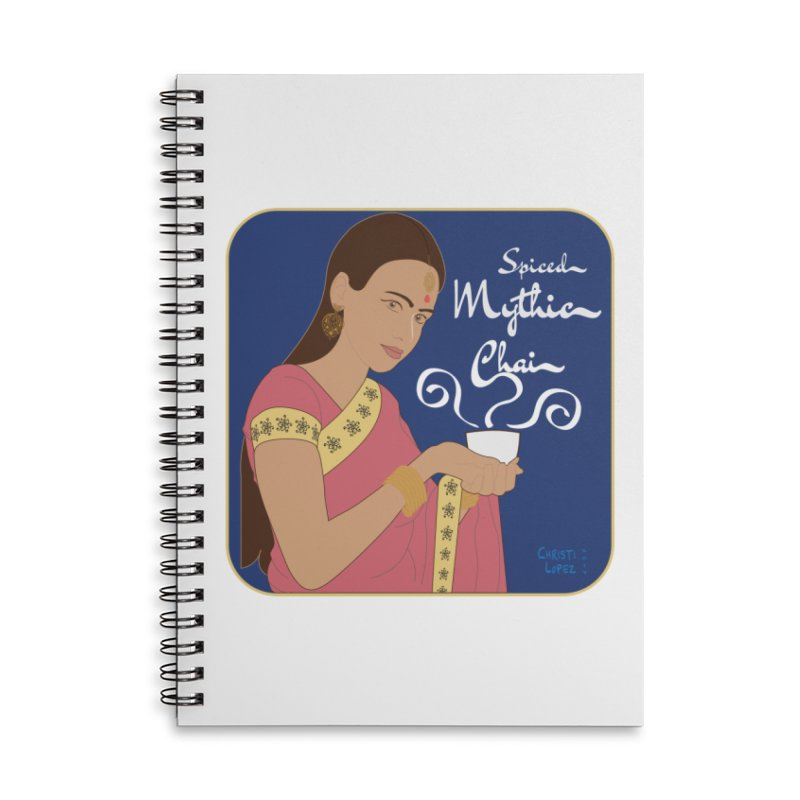 Art Nouveau Chai Advertisement Accessories Notebook by Ms. Christi Design