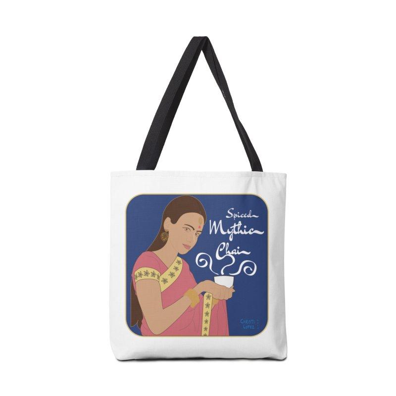 Art Nouveau Chai Advertisement Accessories Bag by Ms. Christi Design