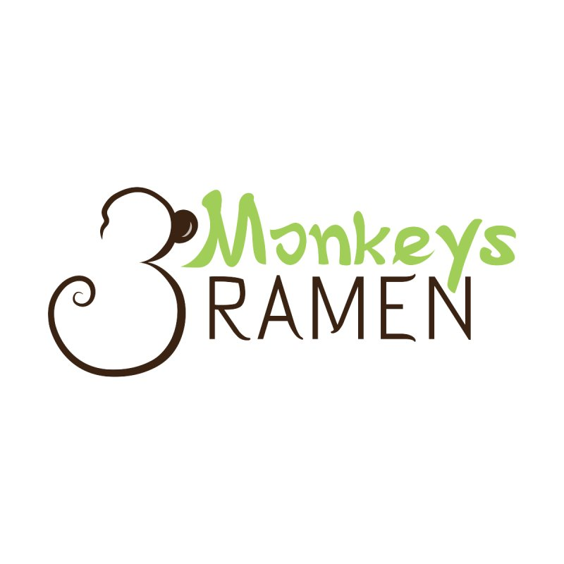 3 Monkeys Ramen Home Throw Pillow by Ms. Christi Design
