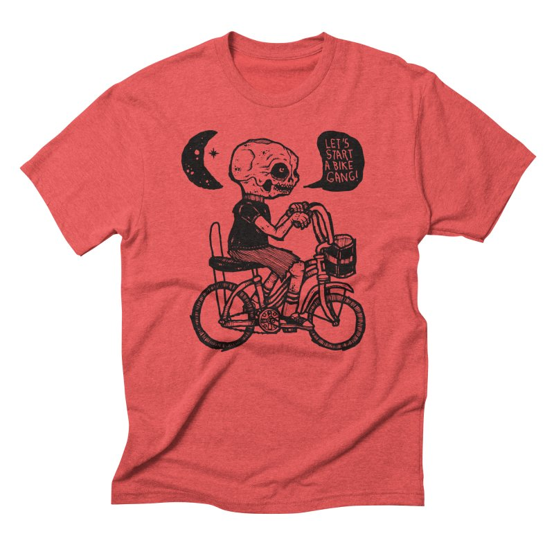 Bike Gang in Men's Triblend T-Shirt Chili Red by msieben's Shop