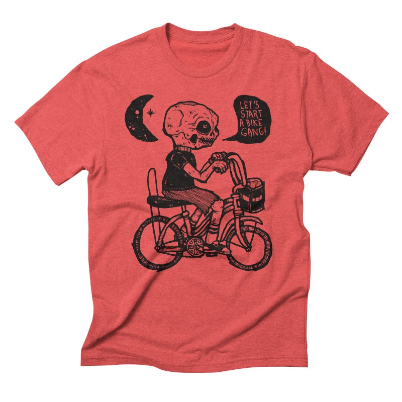 Bike Gang Men's Triblend T-shirt by msieben's Shop