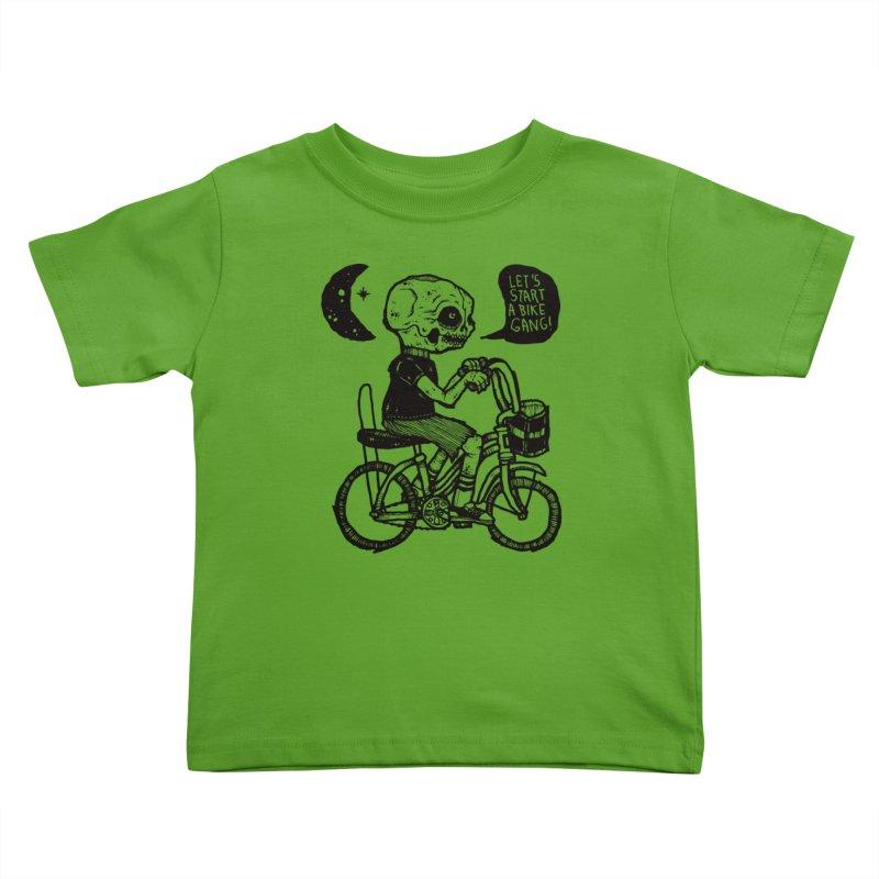 Bike Gang Kids Toddler T-Shirt by msieben's Shop