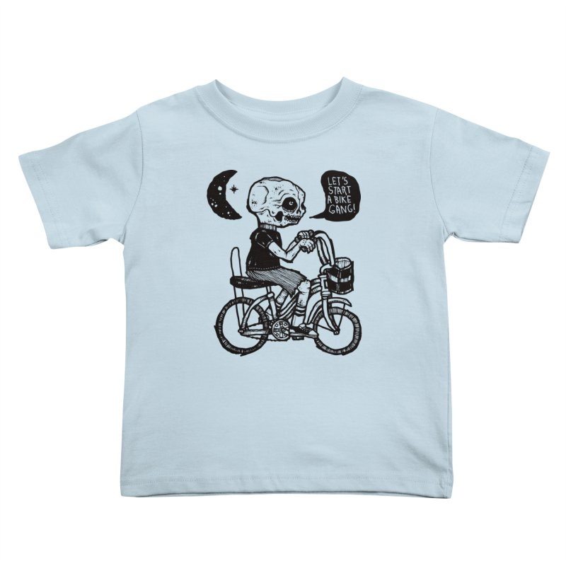 Bike Gang Kids Toddler T-Shirt by msieben's Shop