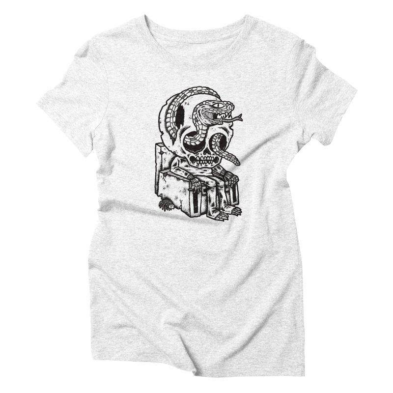 Skulls Snakes Spiders BW Women's Triblend T-shirt by msieben's Shop