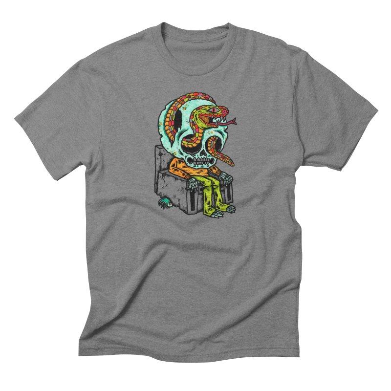Skulls Snakes Spiders Men's Triblend T-Shirt by msieben's Shop