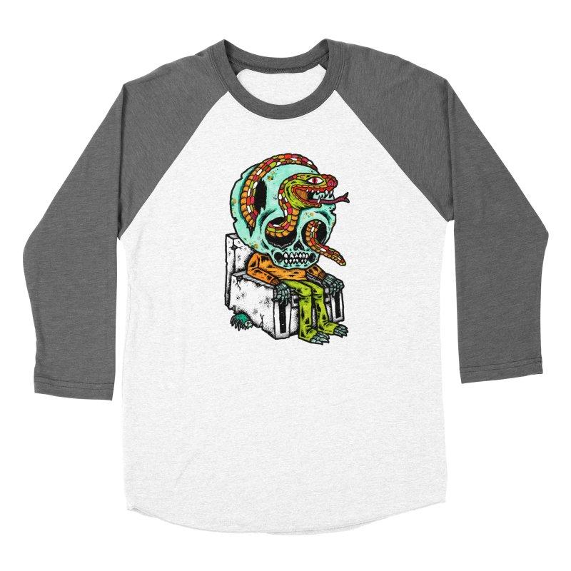 Skulls Snakes Spiders Men's Baseball Triblend T-Shirt by msieben's Shop