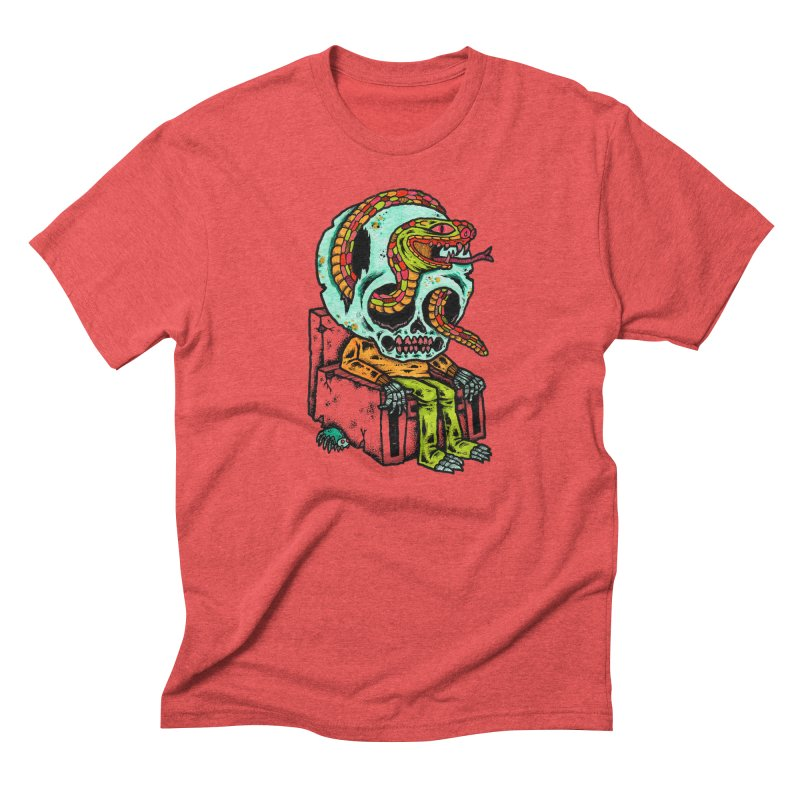 Skulls Snakes Spiders Men's Triblend T-shirt by msieben's Shop