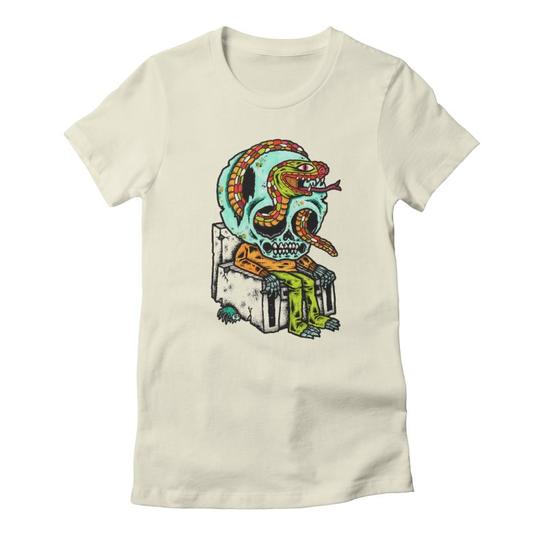 Skulls Snakes Spiders Women's Fitted T-Shirt by msieben's Shop