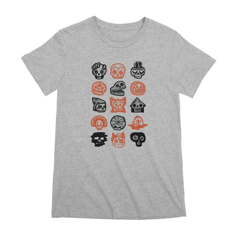 15 Skulls Women's Premium T-Shirt by msieben's Shop