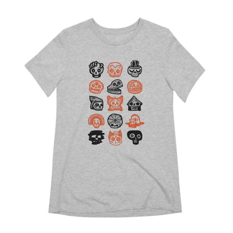 15 Skulls Women's Extra Soft T-Shirt by msieben's Shop