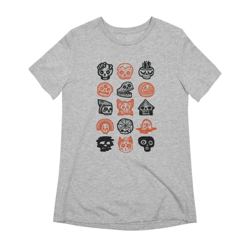 15 Skulls Women's Extra Soft T-Shirt by msieben's Shop