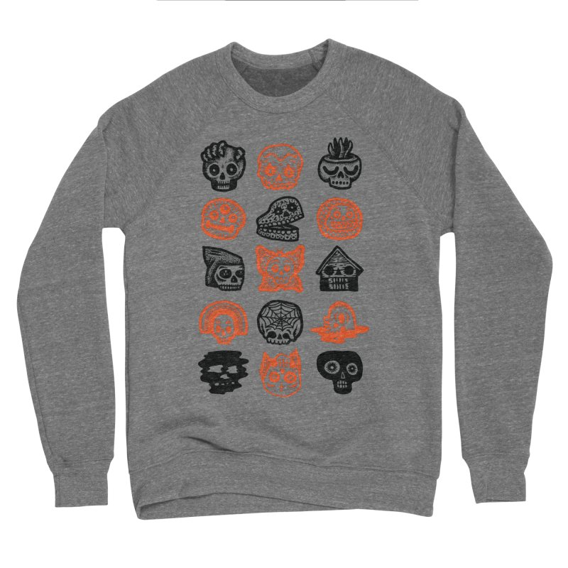 15 Skulls Men's Sponge Fleece Sweatshirt by msieben's Shop
