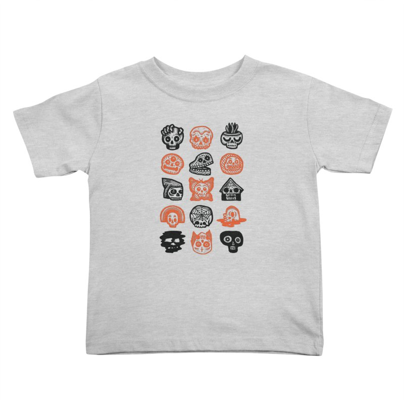 15 Skulls Kids Toddler T-Shirt by msieben's Shop