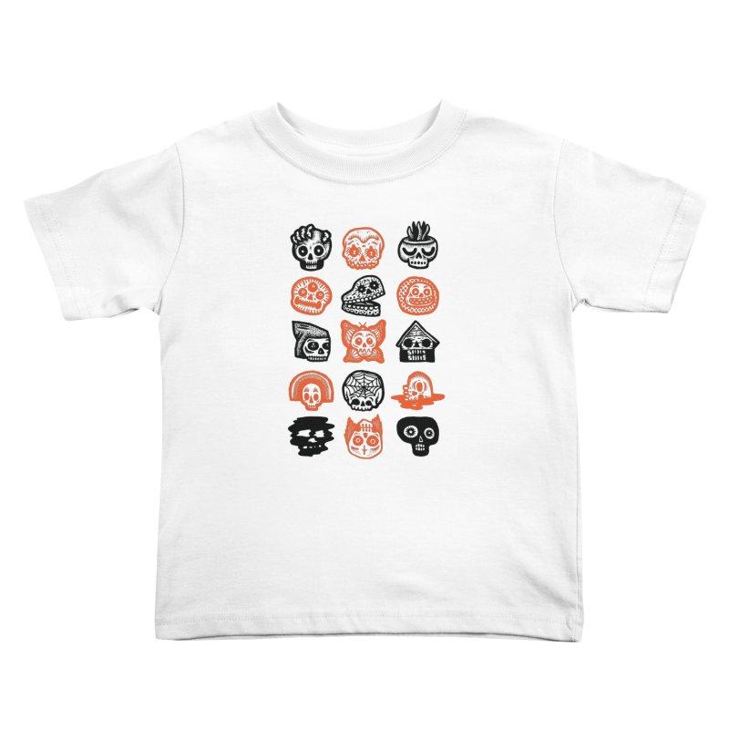 15 Skulls Kids Toddler T-Shirt by msieben's Shop