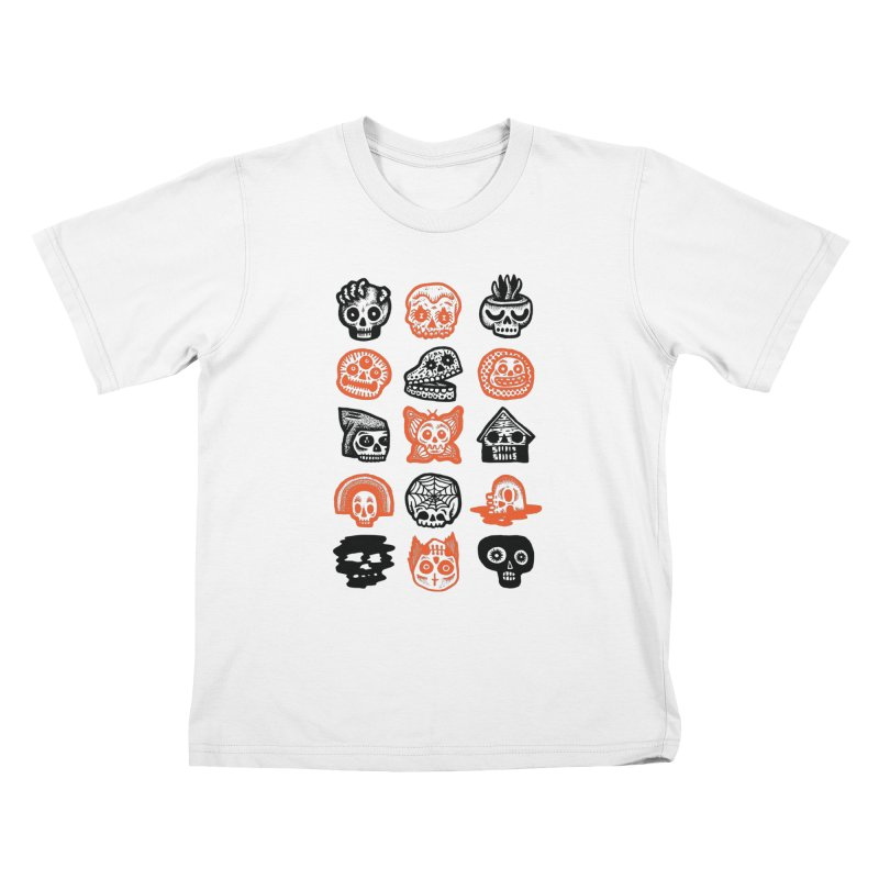 15 Skulls Kids T-Shirt by msieben's Shop