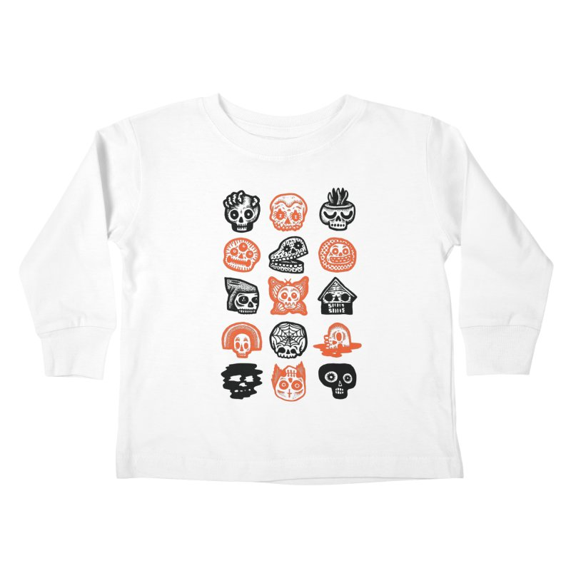 15 Skulls Kids Toddler Longsleeve T-Shirt by msieben's Shop