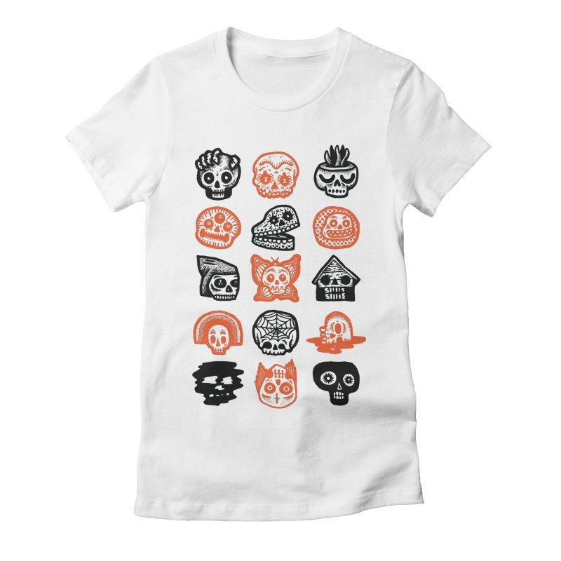 15 Skulls Women's Fitted T-Shirt by msieben's Shop