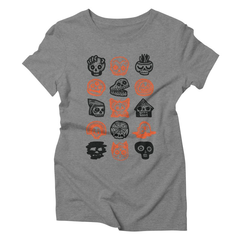 15 Skulls Women's Triblend T-Shirt by msieben's Shop