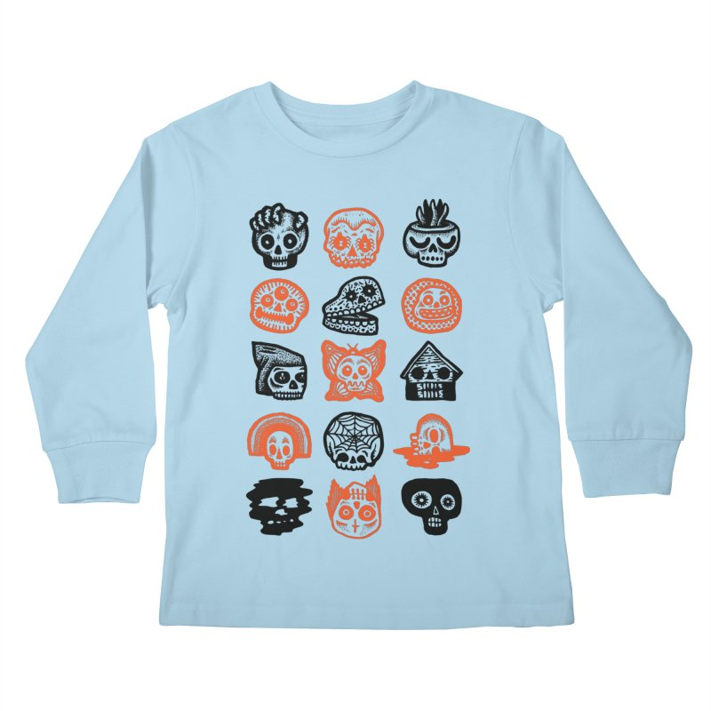15 Skulls Kids Longsleeve T-Shirt by msieben's Shop