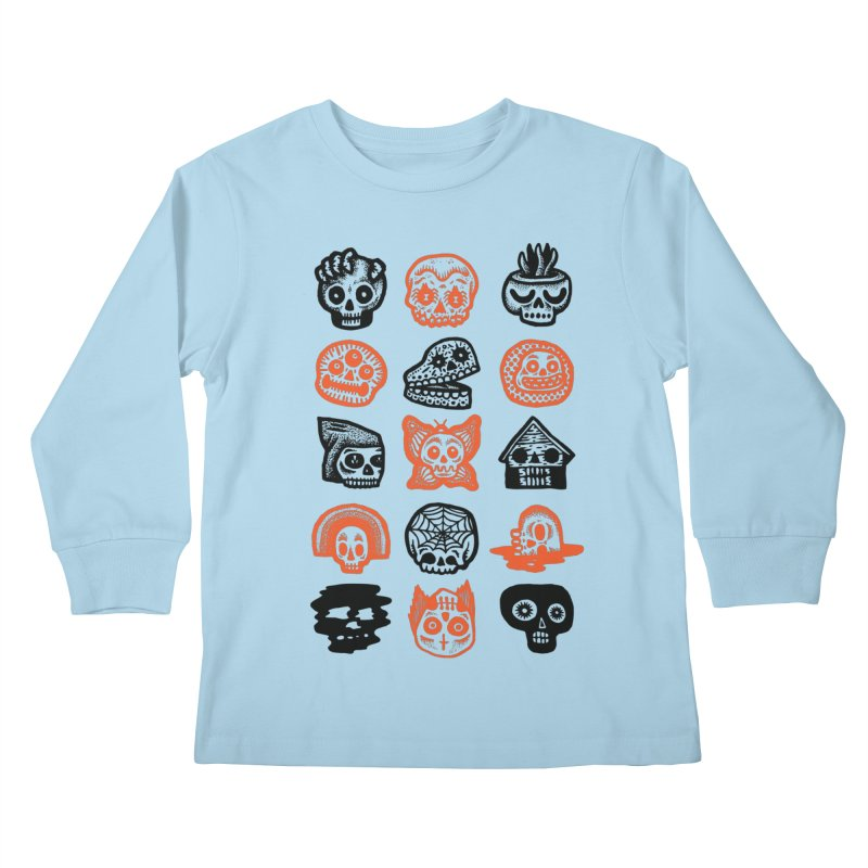 15 Skulls Kids Longsleeve T-Shirt by msieben's Shop