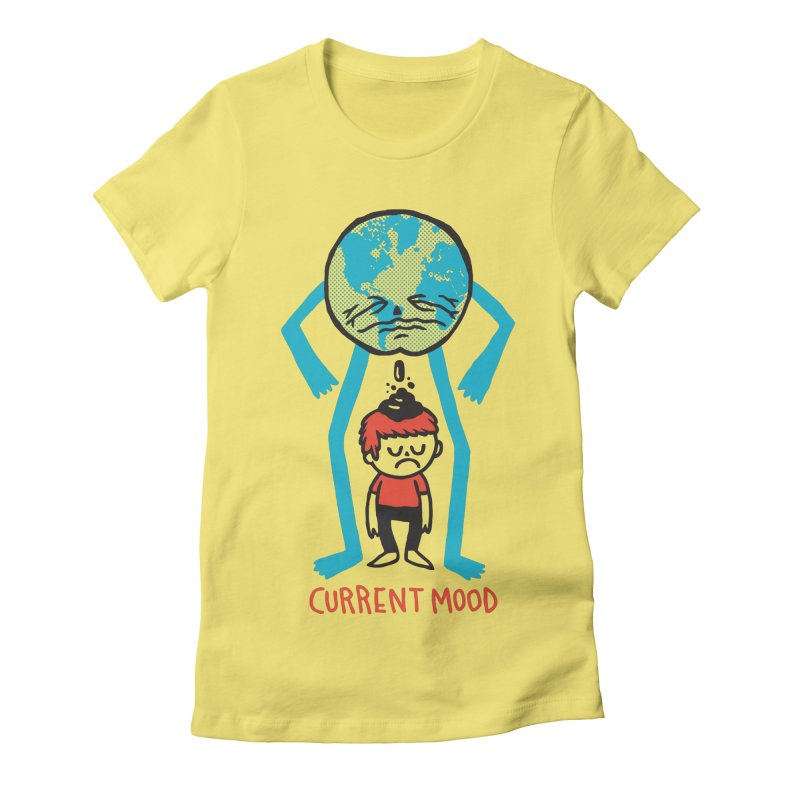 Current Mood Women's Fitted T-Shirt by msieben's Shop
