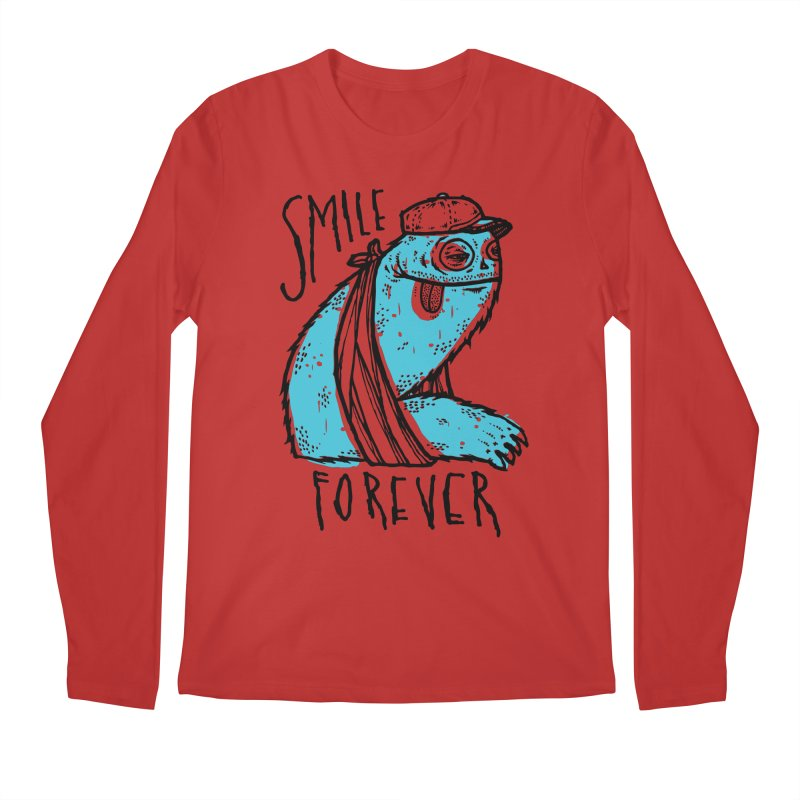 Smile Forever Men's Regular Longsleeve T-Shirt by msieben's Shop