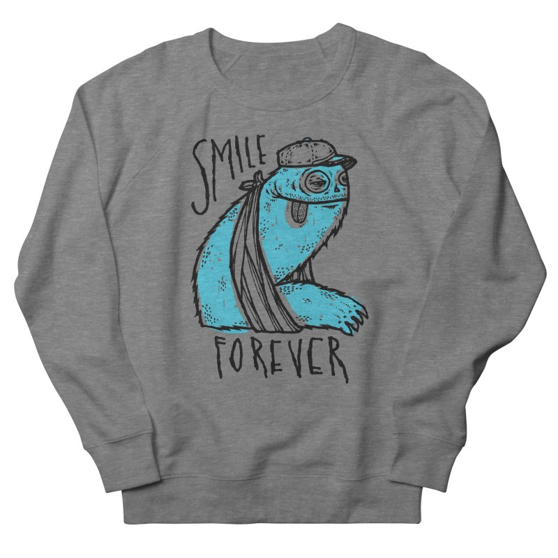 Smile Forever Men's French Terry Sweatshirt by msieben's Shop