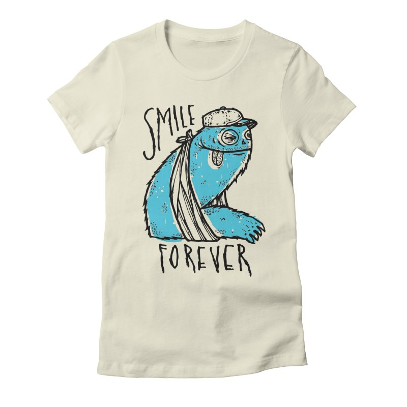 Smile Forever Women's Fitted T-Shirt by msieben's Shop