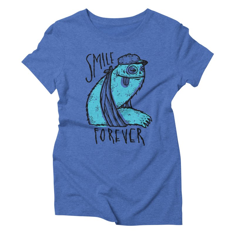 Smile Forever Women's Triblend T-shirt by msieben's Shop
