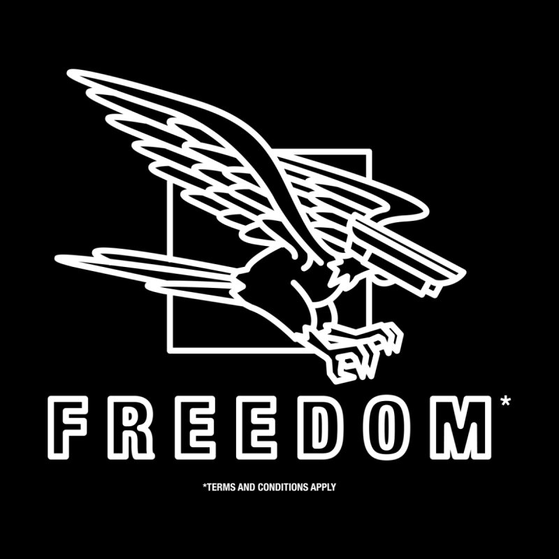 FREEDOM (Black Friday) Men's T-Shirt by MSTRMIND On-Demand