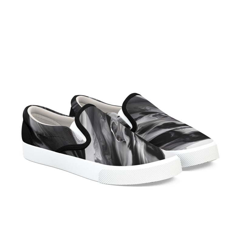 THE BLACKEST Women's Slip-On Shoes by mu's Artist Shop