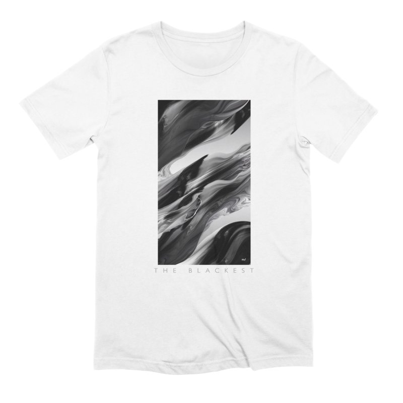 THE BLACKEST in Men's Extra Soft T-Shirt White by mu's Artist Shop