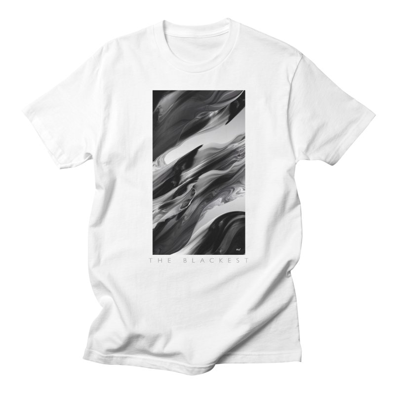 THE BLACKEST in Men's Regular T-Shirt White by mu's Artist Shop