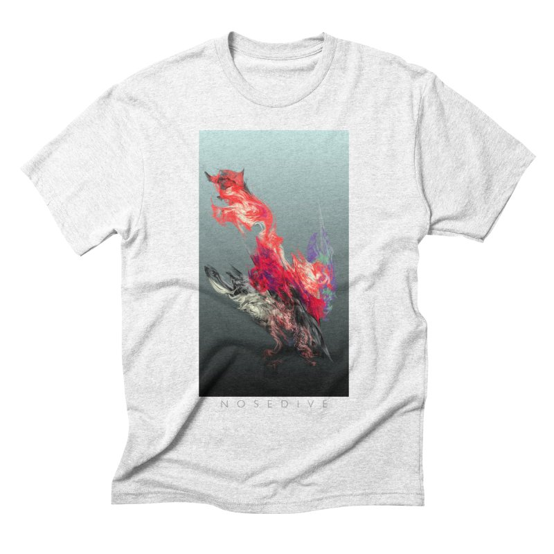 NOSEDIVE in Men's Triblend T-shirt Heather White by mu's Artist Shop