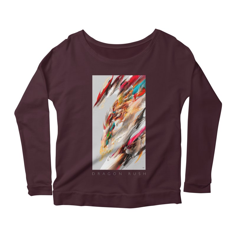DRAGON RUSH Women's Longsleeve Scoopneck  by mu's Artist Shop