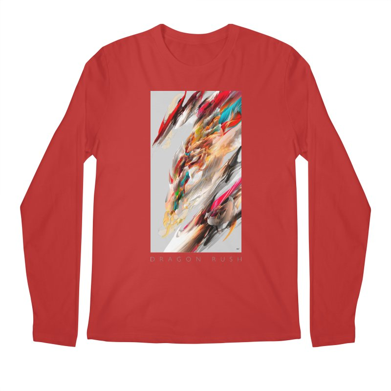 DRAGON RUSH Men's Longsleeve T-Shirt by mu's Artist Shop