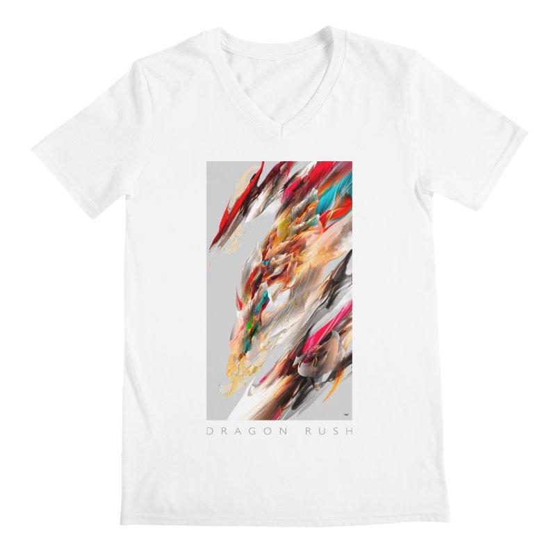 DRAGON RUSH Men's V-Neck by mu's Artist Shop