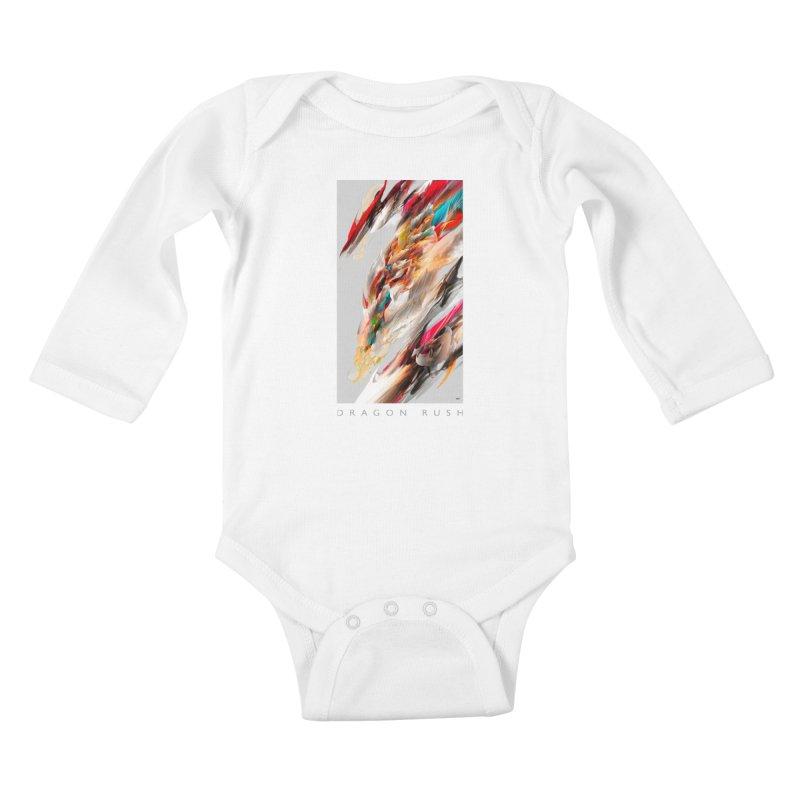 DRAGON RUSH Kids Baby Longsleeve Bodysuit by mu's Artist Shop