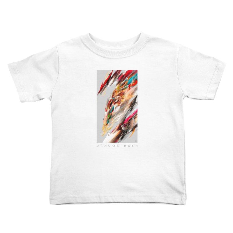 DRAGON RUSH Kids Toddler T-Shirt by mu's Artist Shop