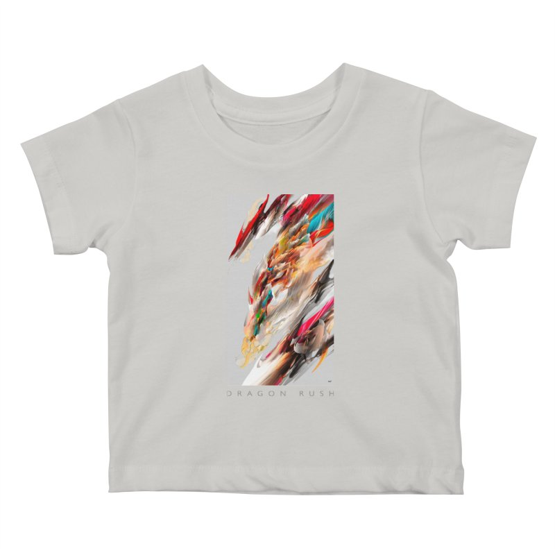 DRAGON RUSH Kids Baby T-Shirt by mu's Artist Shop
