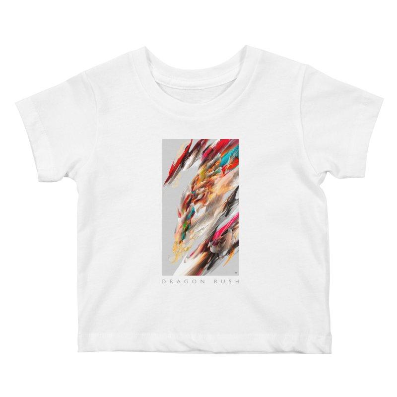 DRAGON RUSH Kids Baby T-Shirt by mu's Artist Shop
