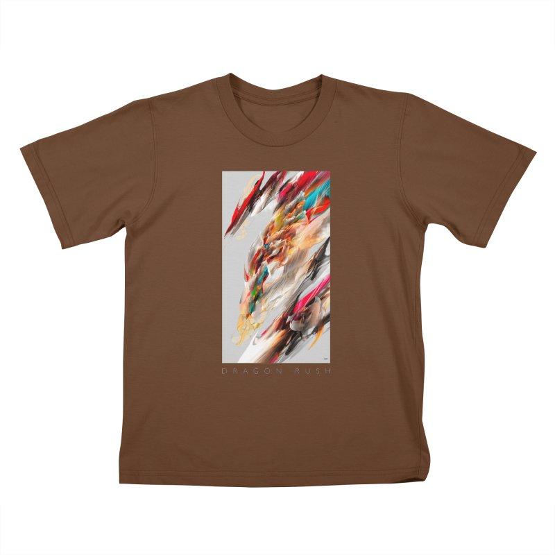 DRAGON RUSH Kids T-Shirt by mu's Artist Shop